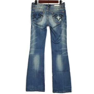 Express Jeans - ReRock for Express Size 4 Bootcut Jeans